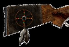 Medicine Stick Indian feathers decoration