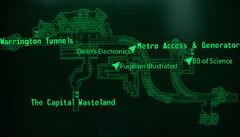 Metro Warrington Station loc map