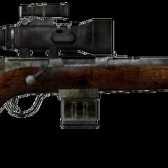 Варминт-гвинтівка з встановленим прицілом НВ.
