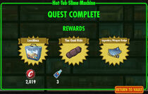 FoS Hot Tub Slime Machine rewards