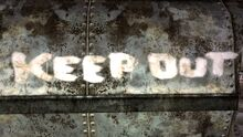 Keep out radio
