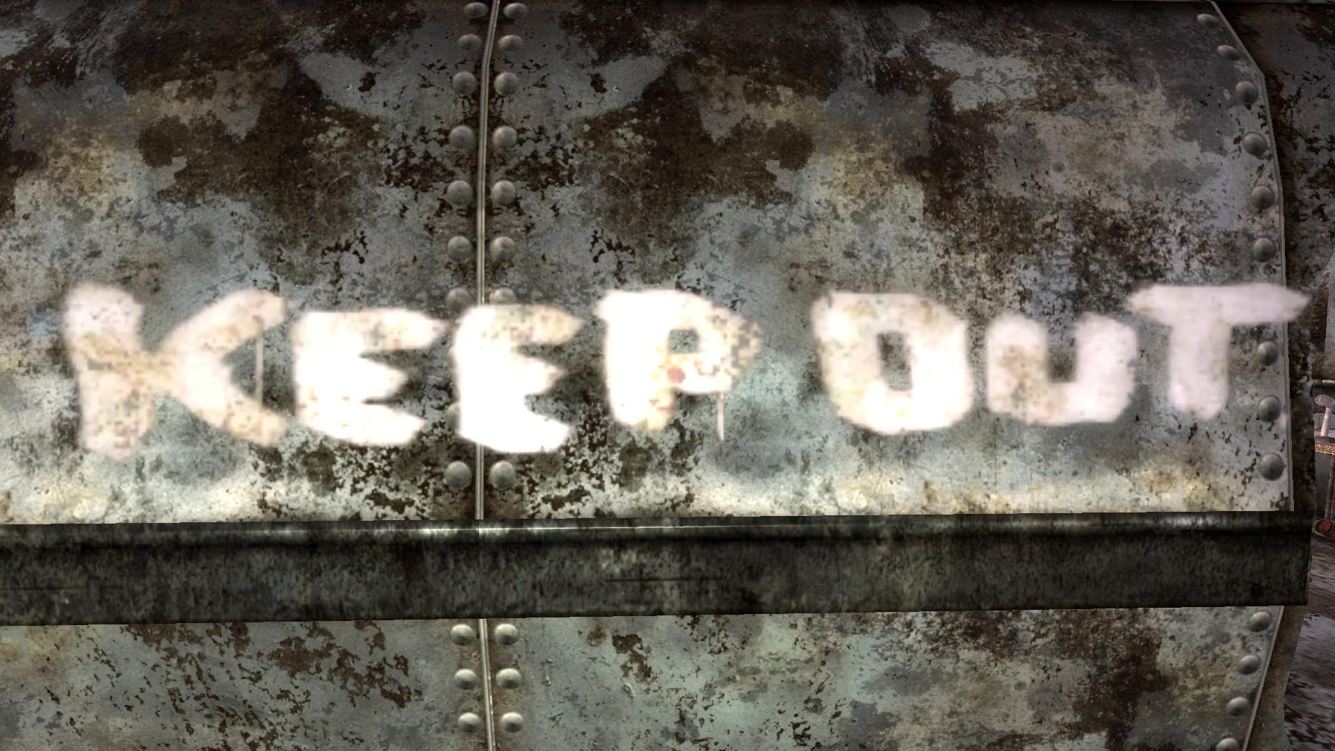 Keep out radio