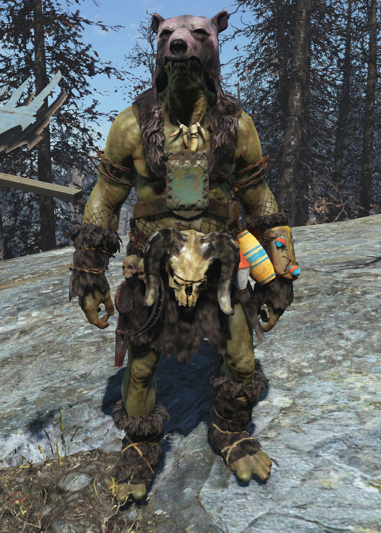 super mutant bearskin outfit fallout wiki fandom. Black Bedroom Furniture Sets. Home Design Ideas