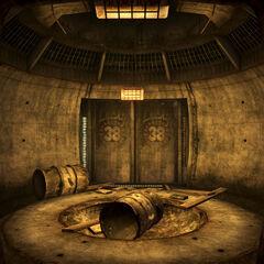 Вхід в бункер секьюрітронів