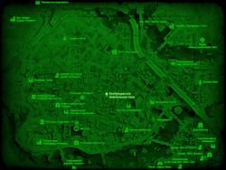 FO4 Кембриджское бейсбольное поле (карта мира)