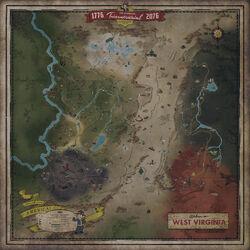 FO76 West Virginia map