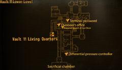 Vault 11 lower level loc map