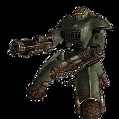 Військовий робот-охоронець з гатлинг-лазером