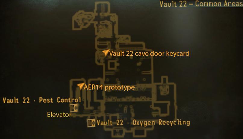 Vault 22 common areas loc map