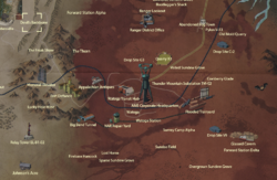 Devil's Backbone map