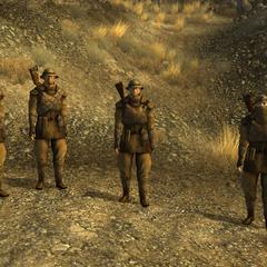 Покращений загін з чотирьох звичайних бійців, мораль 4-6