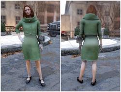 FO76 Винтажное льняное пальто