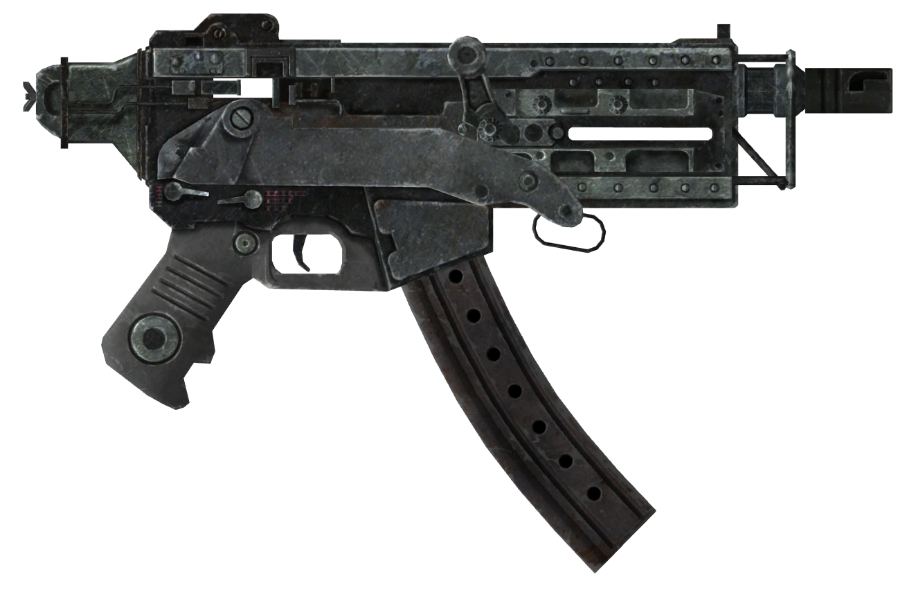 10mm SMG with extended mag and recoil comp