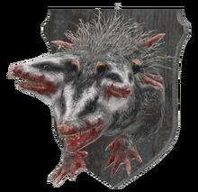 Mounted opossum