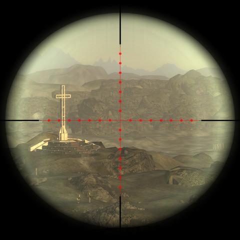 Вид з оптичного прицілу на <a href=