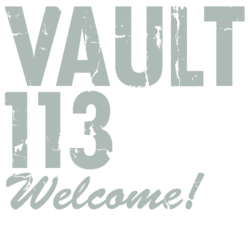 FO4 Vault 113 Sign Welcome