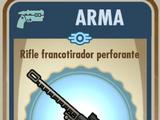 Rifle francotirador perforante