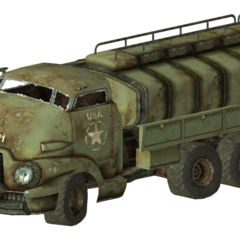 Military fuel truck