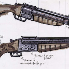 Sawed-off shotgun concept art by <a class=