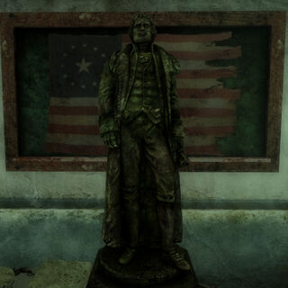 Full size presidential statue