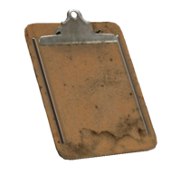 Battered clipboard