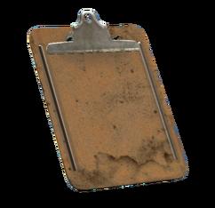 Battered clipboard