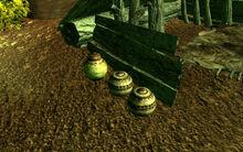 Dead Horses camp clay pots