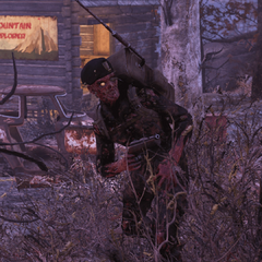 A scorched officer in the wilderness