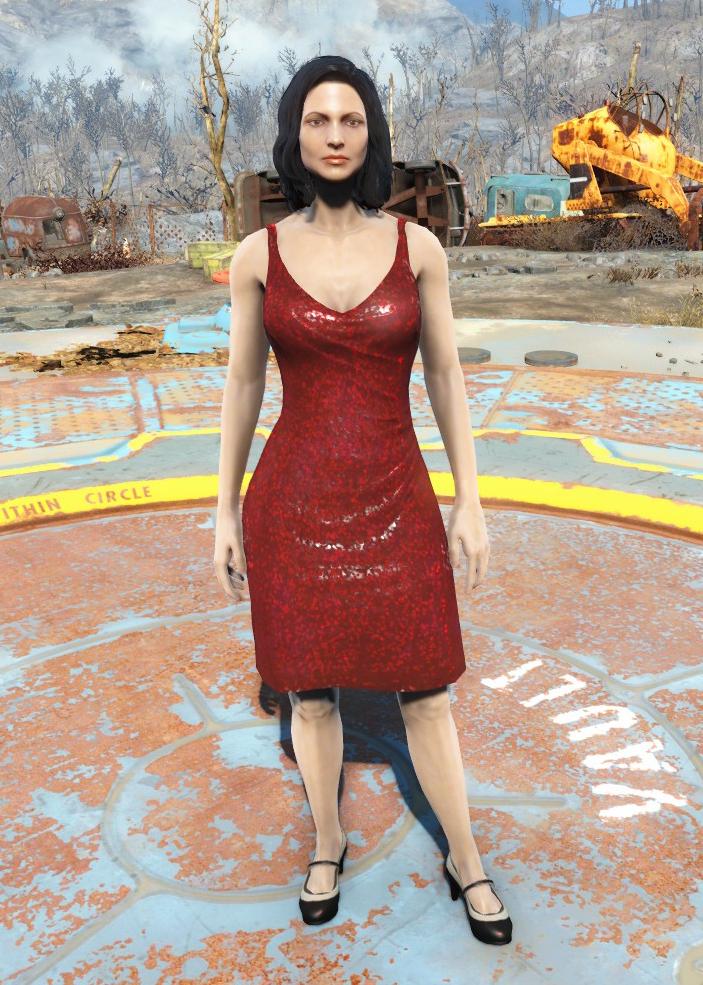 Fallout 4 красное платье