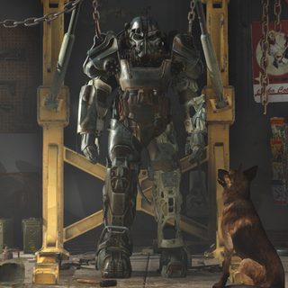 Power armor shown in the <i>Fallout 4</i> Official Trailer
