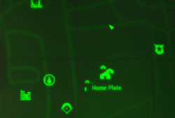 Home Plate Map Marker