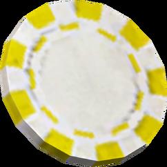 Yellow poker chip