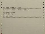 Airlock C7 inventory list