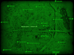 FO4 «Красная ракета» — Лексингтон (карта мира)