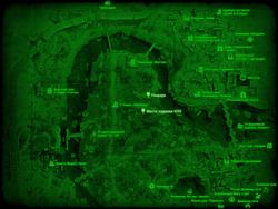 FO4 Место падения НЛО (карта мира)