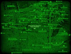 FO4 Штаб-квартира корпорации «Уилсон Атоматойз» (карта мира)