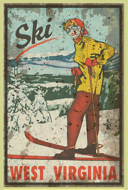 FO76 adverts posters Ski West Virginia