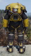Fallout 76 X-01 prototype power armor back