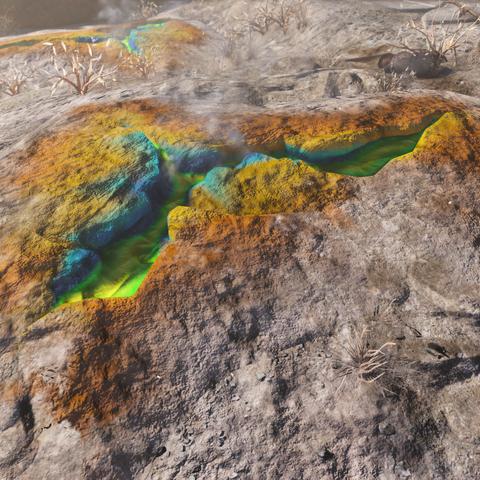 Two of the three acid deposits at Hemlock Holes maintenance.