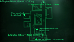 Arlington Library Childrens Wing map