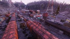 FO76 New Appalachian central trainyard