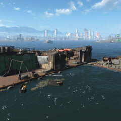 Unmarked location: Floating barge
