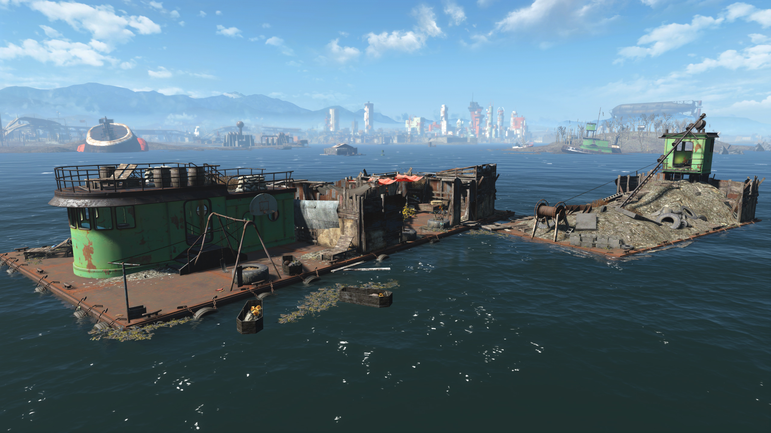 FO4 Spectacle Island (Floating Barge)