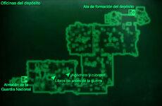Esp AGN Oficinal del depósito Mapa Loc