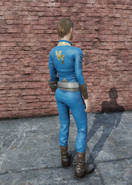 FO76 Vault Tec University Jumpsuit Female Rear