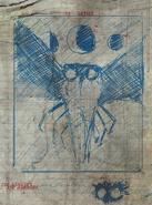 F76 Van Lowe Mothman Sketch 2