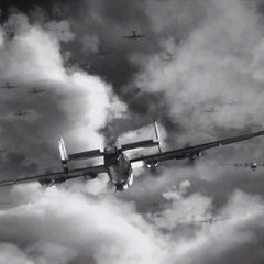 B-24 bombers in formation