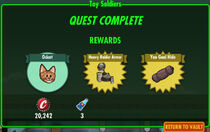 FoS Toy Soldiers rewards