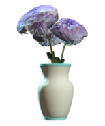 Glass vaulted teal vase