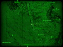 FO4 Граница Светящегося моря (карта мира)